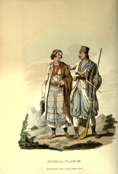 Picturesque Representations of the Austrians - A Zouppanese and his Wife (1814)
