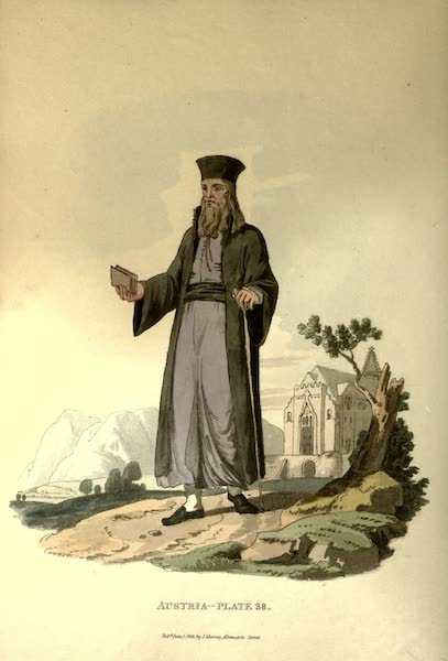 Picturesque Representations of the Austrians - A Greek Priest of the Country of Cattaro (1814)