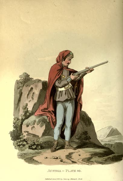Picturesque Representations of the Austrians - A Pandour, or Red Mantle (1814)