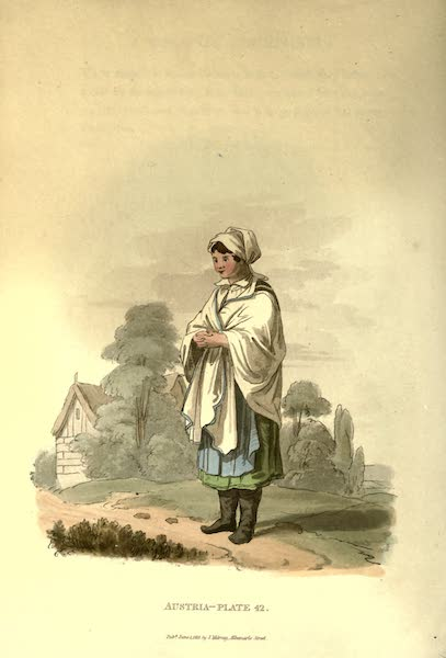 Picturesque Representations of the Austrians - A Countrywoman of the Mountains of Moravia (1814)