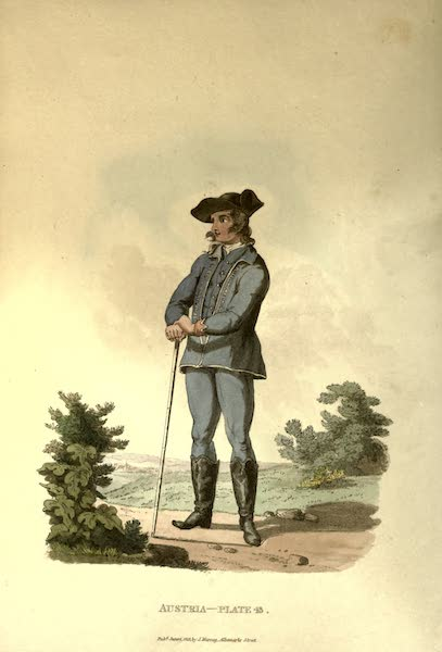 Picturesque Representations of the Austrians - A Peasant of the Lowlands of Moravia in his Summer Dress (1814)