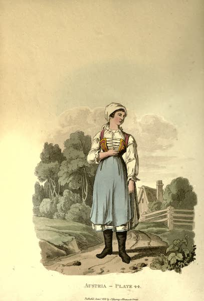 Picturesque Representations of the Austrians - A Countrywoman of the Lowlands of Moravia in her Summer Dress (1814)