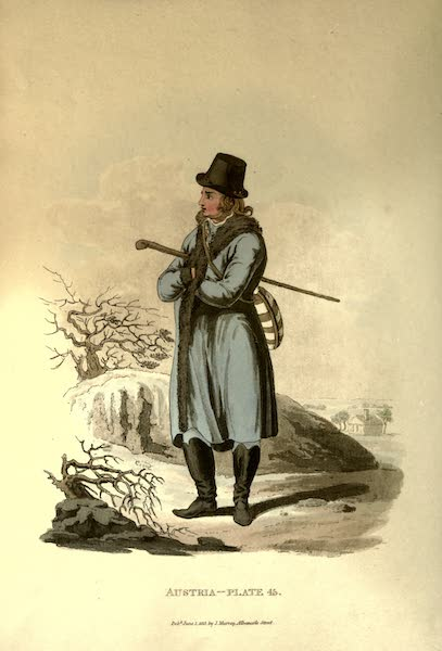 Picturesque Representations of the Austrians - An Inhabitant of the Lowlands of Moraviain his Winter Clothes (1814)