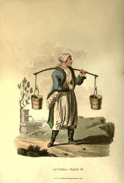 Picturesque Representations of the Austrians - A Countrywoman of the Lowlands of Moravia in her Winter Dress (1814)