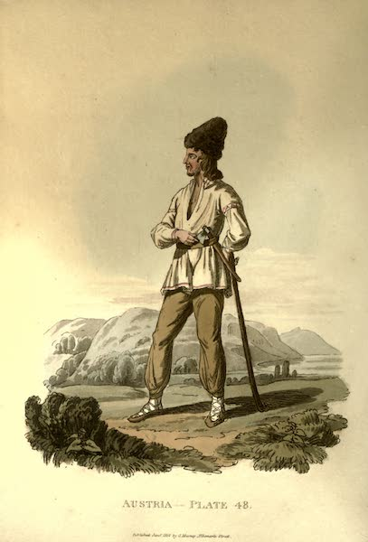 Picturesque Representations of the Austrians - A Russniac Peasant of the Palatinate of Marmoros (1814)