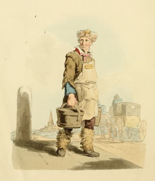 Picturesque Representations of the English - Waterman to a Coach-stand (1813)