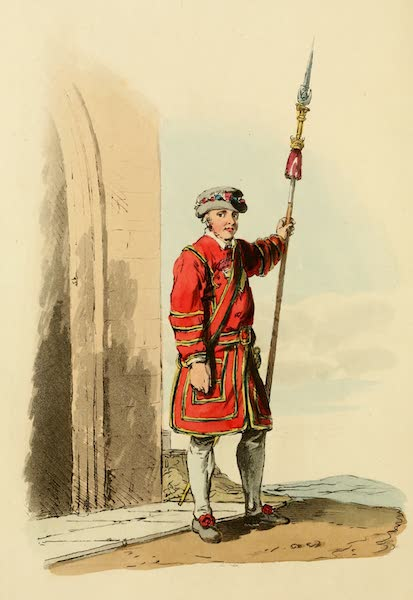 Picturesque Representations of the English - Yeoman of the Guard (1813)