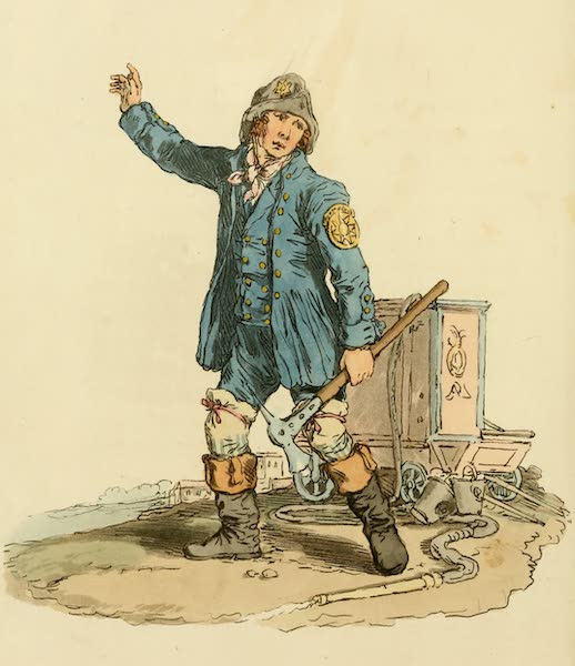 Picturesque Representations of the English - Fireman (1813)