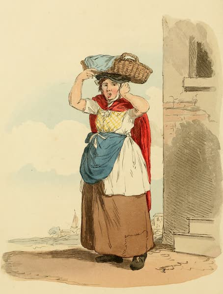 Picturesque Representations of the English - Billingsgate Fish-woman (1813)