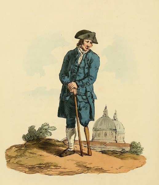 Picturesque Representations of the English - Greenwich Pensioner (1813)