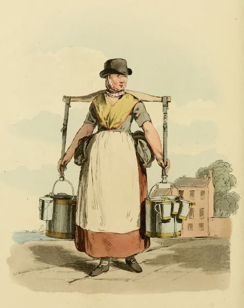 Picturesque Representations of the English - Milk-maid (1813)