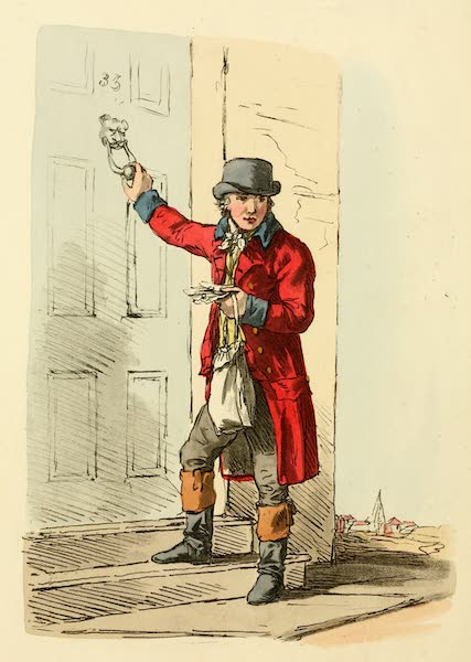 Picturesque Representations of the English - Postman (1813)