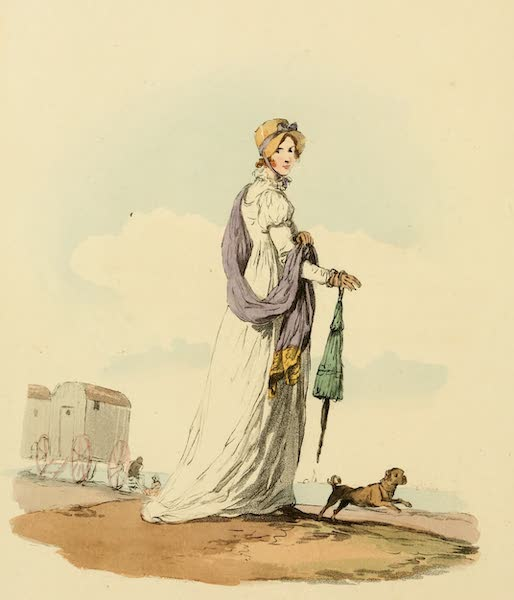 Picturesque Representations of the English - Lady in her Summer Dress (1813)