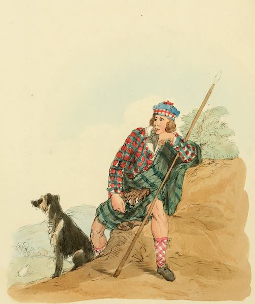 Picturesque Representations of the English - Highland Shepherd (1813)