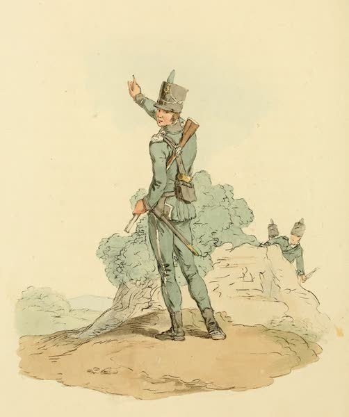 Picturesque Representations of the English - Rifleman (1813)