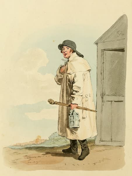 Picturesque Representations of the English - Watchman (1813)
