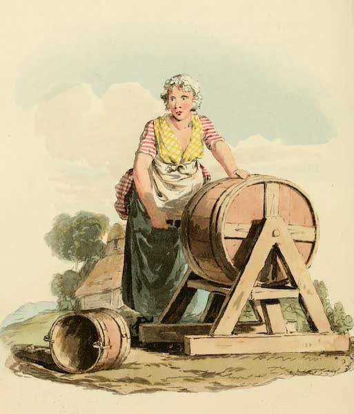 Picturesque Representations of the English - Dairy Maid (1813)