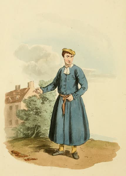 Picturesque Representations of the English - Blue-coat Boy (1813)
