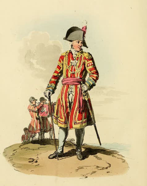 Picturesque Representations of the English - Serjeant Trumpeter (1813)