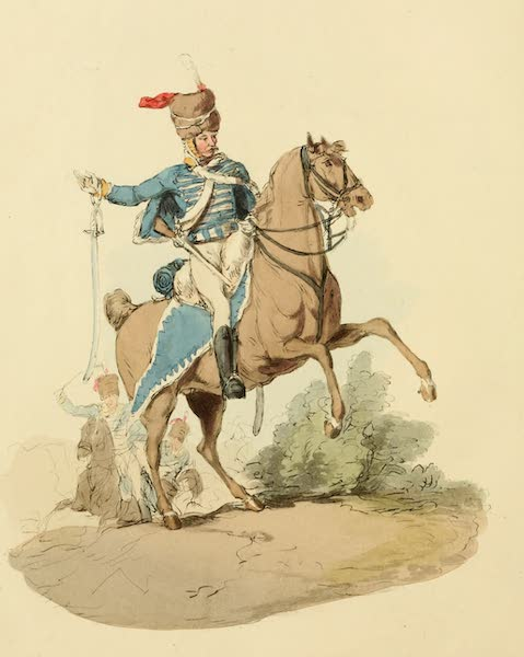 Picturesque Representations of the English - Hussar (1813)