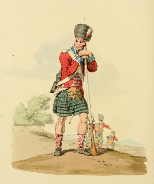 Picturesque Representations of the English - Private of the 42d Regiment (1813)