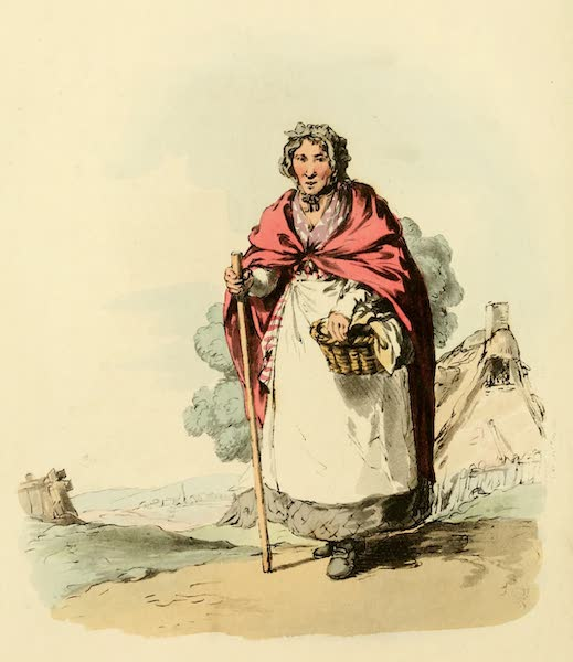 Picturesque Representations of the English - Market Woman (1813)