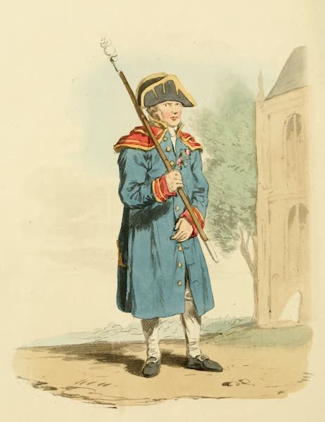 Picturesque Representations of the English - Beadle of the Church (1813)