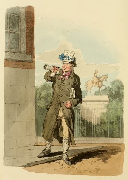 Picturesque Representations of the English - Newsman (1813)