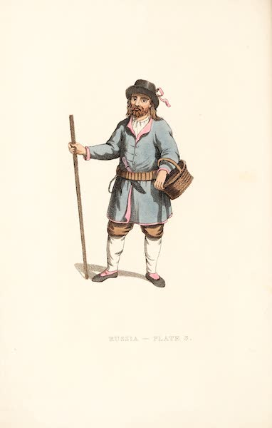 Picturesque Representations of the Russians - A Peasant of Finland (1814)