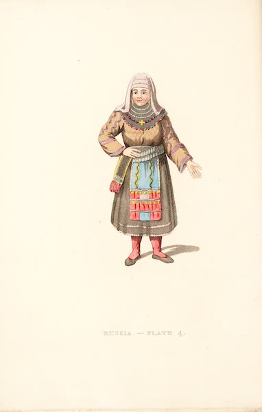 Picturesque Representations of the Russians - A Female Peasant of Finland (1814)