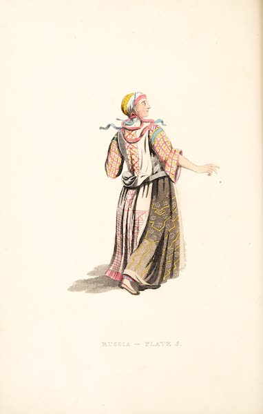 Picturesque Representations of the Russians - A Woman of Finland, in her Summer holiday dress (1814)