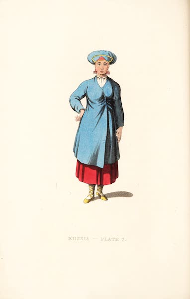 Picturesque Representations of the Russians - A Female Peasant of Ingria (1814)