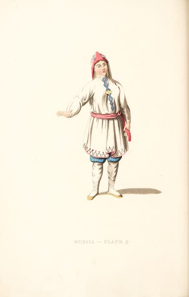Picturesque Representations of the Russians - A Tcheremhisian Woman in her Summer dress (1814)