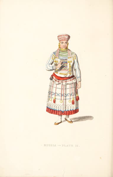 Picturesque Representations of the Russians - A Mordvine of the Mokshan Tribe (1814)
