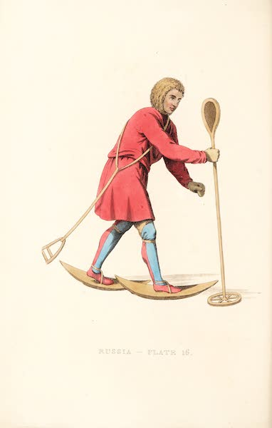 Picturesque Representations of the Russians - An Ostiak in his Winter hunting dress (1814)