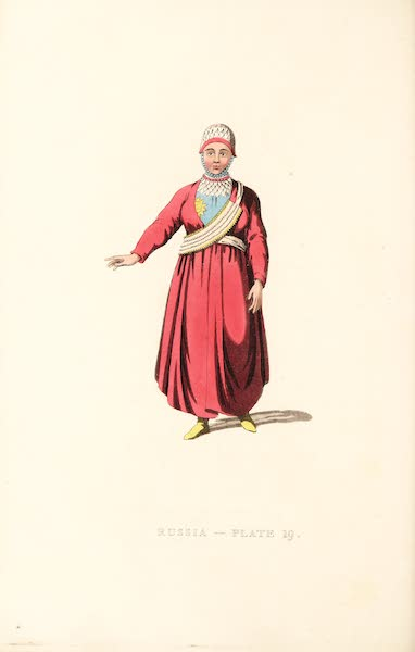 Picturesque Representations of the Russians - A Female Tartar of Kazan (1814)