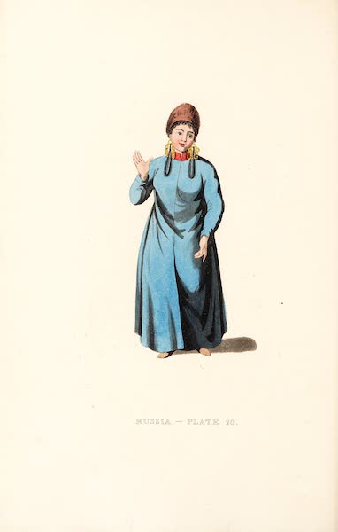 Picturesque Representations of the Russians - A Female Tartar of Tchatska (1814)