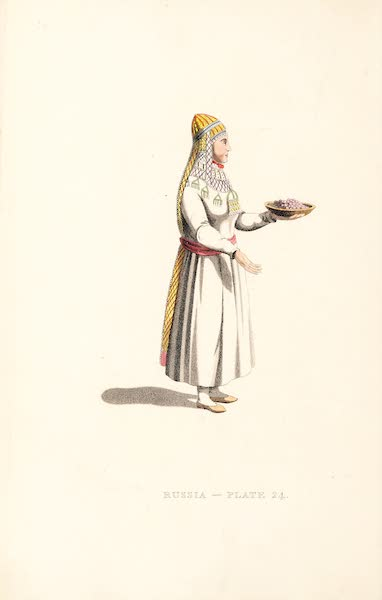 Picturesque Representations of the Russians - A Bashkirian Woman (1814)