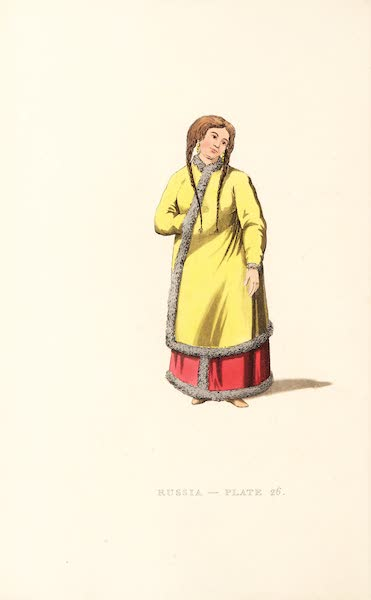 Picturesque Representations of the Russians - A Barabinzian Woman (1814)