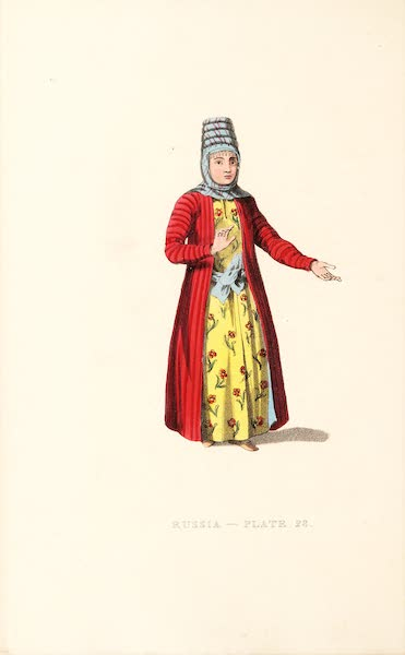 Picturesque Representations of the Russians - A Female Kirghi (1814)