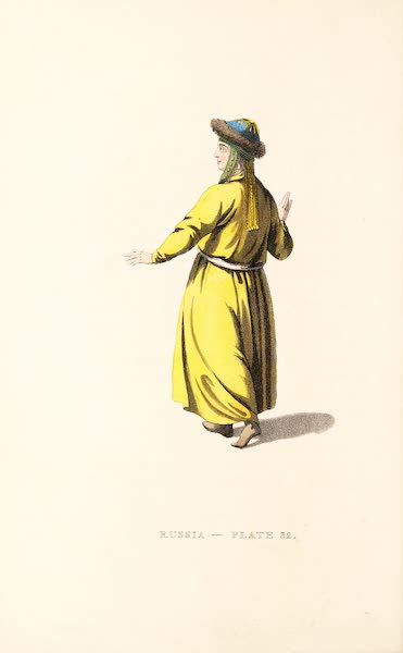 Picturesque Representations of the Russians - A Female Tartar, of the Tribe of Teleouti (1814)