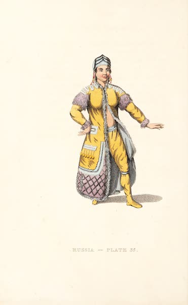 Picturesque Representations of the Russians - An Unmarried Female Yakouti (1814)