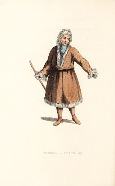 Picturesque Representations of the Russians - An Inhabitant of Kamtshatka, in his Winter dress (1814)