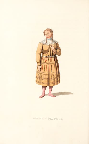 Picturesque Representations of the Russians - A Woman of Kamtshatka, in her best dress (1814)