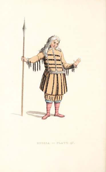 Picturesque Representations of the Russians - A Koriak in his dress of ceremony (1814)