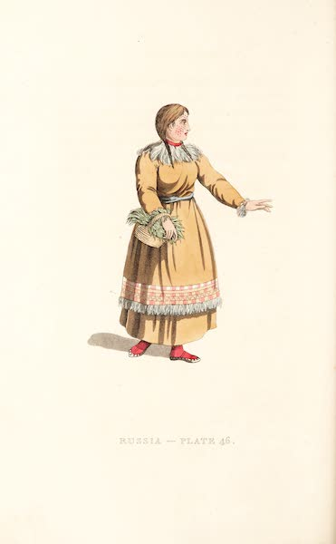 Picturesque Representations of the Russians - A Female Koriak (1814)