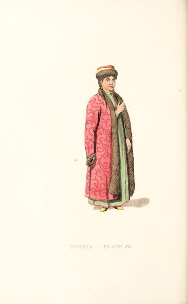 Picturesque Representations of the Russians - A Female Kalmukiye (1814)