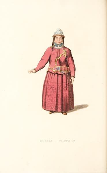 Picturesque Representations of the Russians - A Female Bratzkiye (1814)