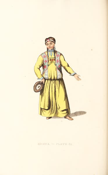 Picturesque Representations of the Russians - A Bratzkian Woman of Udinskoi Ostrog (1814)