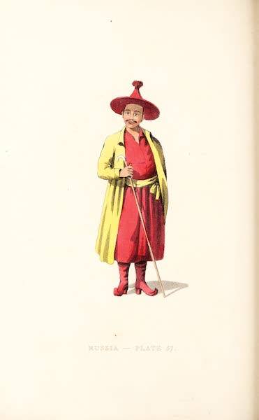 Picturesque Representations of the Russians - A Mongole Priest, or Lama (1814)